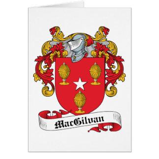 Escudo de la familia de MacGilvan Tarjeta De Felicitación