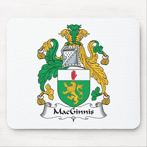 Escudo de la familia de MacGinnis Tapete De Ratón