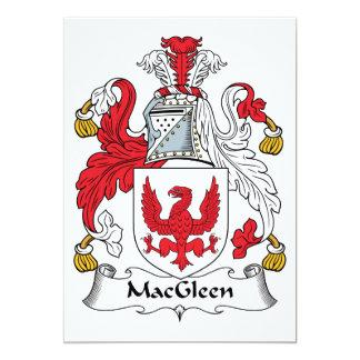 """Escudo de la familia de MacGleen Invitación 5"""" X 7"""""""