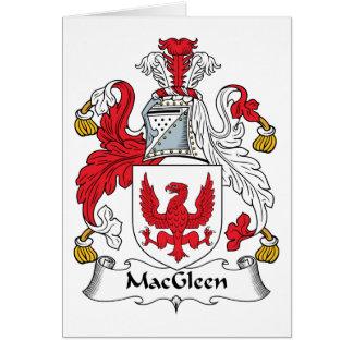Escudo de la familia de MacGleen Tarjeta De Felicitación