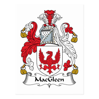 Escudo de la familia de MacGleen Tarjetas Postales
