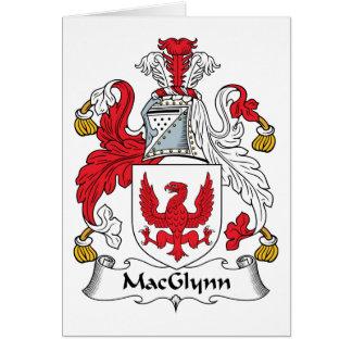 Escudo de la familia de MacGlynn Tarjeta De Felicitación