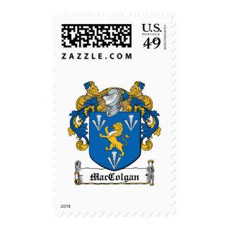 Escudo de la familia de MacGolgan Estampilla