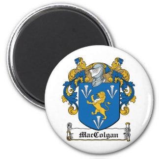 Escudo de la familia de MacGolgan Imán Redondo 5 Cm