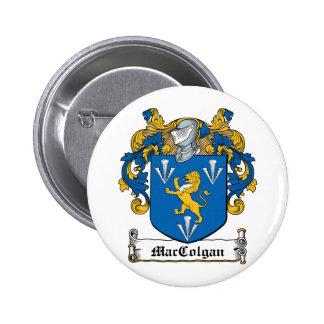 Escudo de la familia de MacGolgan Pin Redondo 5 Cm