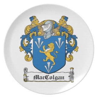 Escudo de la familia de MacGolgan Platos