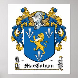Escudo de la familia de MacGolgan Póster