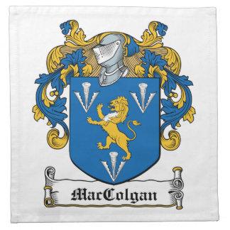 Escudo de la familia de MacGolgan Servilletas Imprimidas