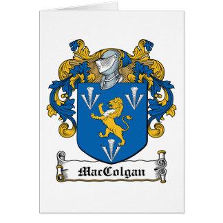 Escudo de la familia de MacGolgan Tarjeta De Felicitación