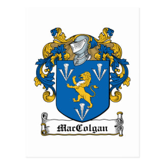 Escudo de la familia de MacGolgan Tarjeta Postal
