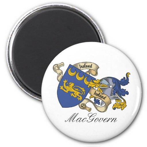 Escudo de la familia de MacGovern Imán Redondo 5 Cm