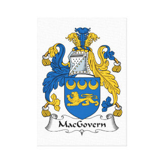 Escudo de la familia de MacGovern Lona Estirada Galerias
