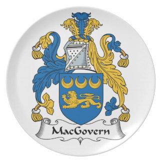 Escudo de la familia de MacGovern Platos
