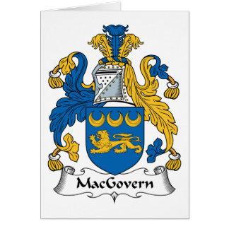 Escudo de la familia de MacGovern Tarjetas