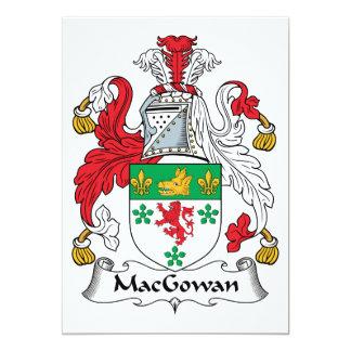 """Escudo de la familia de MacGowan Invitación 5"""" X 7"""""""