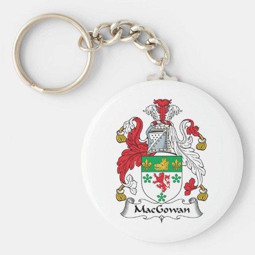 Escudo de la familia de MacGowan Llavero Redondo Tipo Pin
