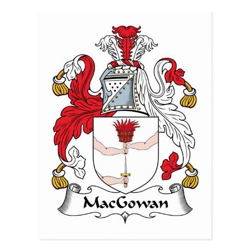 Escudo de la familia de MacGowan Tarjeta Postal