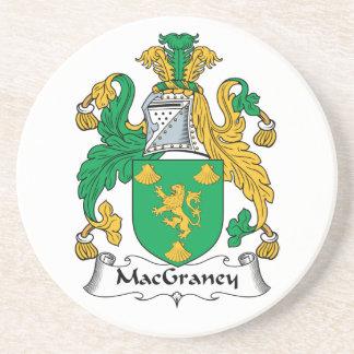 Escudo de la familia de MacGraney Posavasos Cerveza