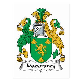 Escudo de la familia de MacGraney Tarjetas Postales