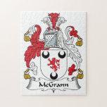 Escudo de la familia de MacGrann Puzzle Con Fotos