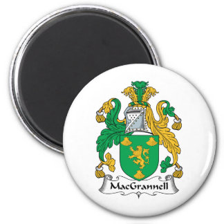 Escudo de la familia de MacGrannell Imán Redondo 5 Cm