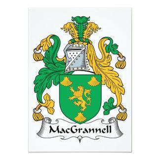"""Escudo de la familia de MacGrannell Invitación 5"""" X 7"""""""
