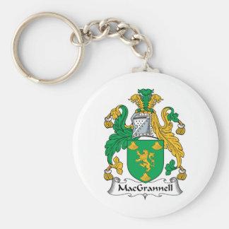 Escudo de la familia de MacGrannell Llavero Redondo Tipo Pin