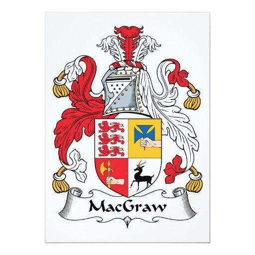 Escudo de la familia de MacGraw Invitación 12,7 X 17,8 Cm