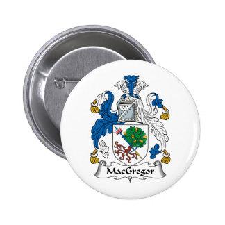Escudo de la familia de MacGregor Pin Redondo De 2 Pulgadas