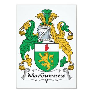 """Escudo de la familia de MacGuinness Invitación 5"""" X 7"""""""