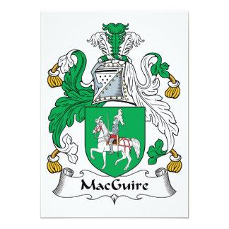 """Escudo de la familia de MacGuire Invitación 5"""" X 7"""""""