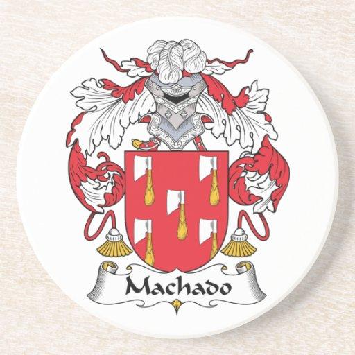 Escudo de la familia de Machado Posavasos De Arenisca