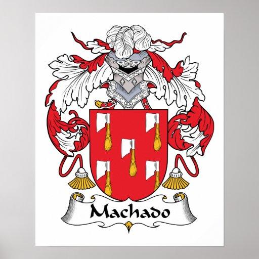 Escudo de la familia de Machado Póster