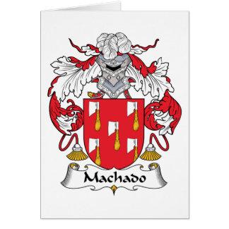Escudo de la familia de Machado Tarjeta De Felicitación