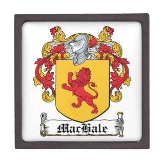 Escudo de la familia de MacHale Caja De Recuerdo De Calidad
