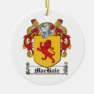 Escudo de la familia de MacHale Adorno Redondo De Cerámica