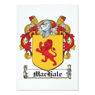 Escudo de la familia de MacHale Invitación 12,7 X 17,8 Cm
