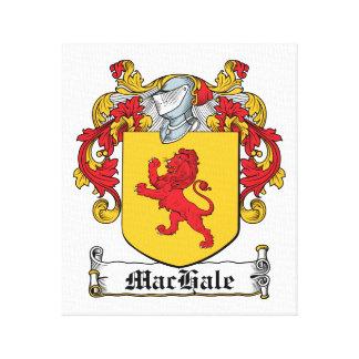 Escudo de la familia de MacHale Lona Envuelta Para Galerias