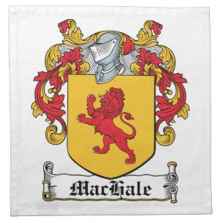 Escudo de la familia de MacHale Servilleta