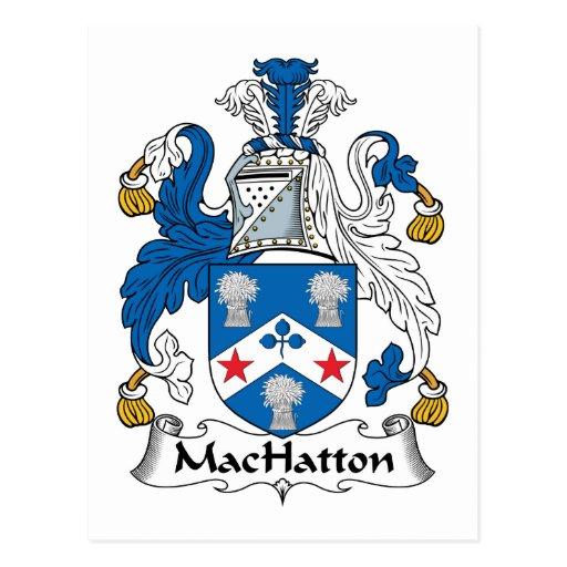Escudo de la familia de MacHatton Postal
