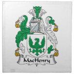 Escudo de la familia de MacHenry Servilleta