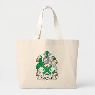 Escudo de la familia de MacHugh Bolsa Tela Grande
