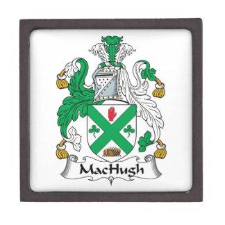 Escudo de la familia de MacHugh Caja De Recuerdo De Calidad