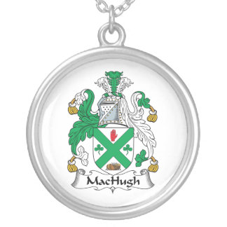 Escudo de la familia de MacHugh Colgante Redondo