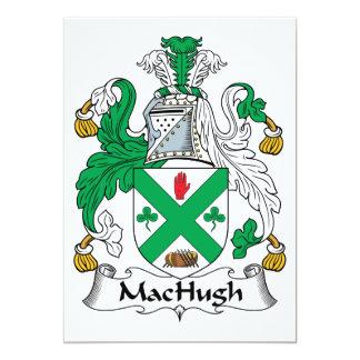 Escudo de la familia de MacHugh Invitación 12,7 X 17,8 Cm