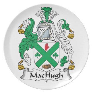 Escudo de la familia de MacHugh Platos Para Fiestas