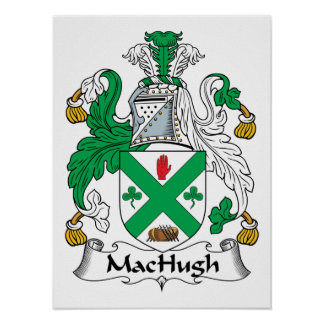 Escudo de la familia de MacHugh Póster