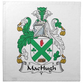 Escudo de la familia de MacHugh Servilleta Imprimida