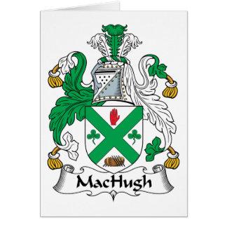 Escudo de la familia de MacHugh Tarjeta De Felicitación