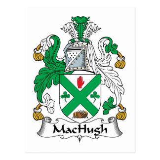 Escudo de la familia de MacHugh Tarjetas Postales